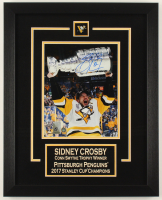 Sidney Crosby Signed Penguins 16x20 Custom Framed Photo Display (FSM COA) at PristineAuction.com