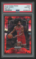 Coby White 2019-20 Panini Prizm #253 Red Ice RC (PSA 10) at PristineAuction.com