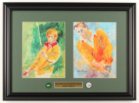 """Leroy Neiman """"Jack Nicklaus and Arnold Palmer"""" 16.5x22.5 Custom Framed Print Display With Official Masters Cup Pin & Official Ryder Cup Pin at PristineAuction.com"""