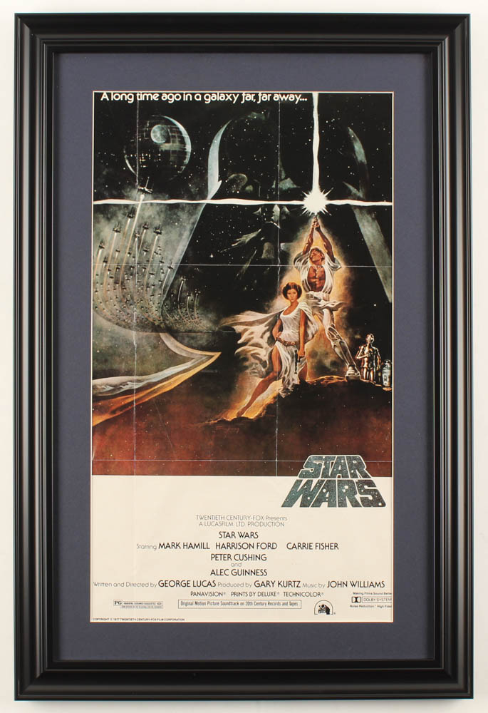 Star Wars Episode Iv A New Hope 16x24 Custom Framed Movie Poster Display Pristine Auction