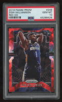 Zion Williamson 2019-20 Panini Prizm Red Ice #248 RC (PSA 10) at PristineAuction.com