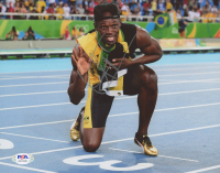 Usain Bolt Signed Team Jamaica 8x10 Photo (PSA Hologram) at PristineAuction.com