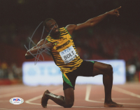Usain Bolt Signed Team Jamaica 8x10 Photo (PSA Hologram) at PristineAuction.com