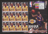 Kobe Bryant Lakers 2003 Full Uncut Stamp Sheet at PristineAuction.com