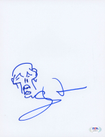 "Greg Nicotero Signed ""The Walking Dead"" 8.5x11 Hand-Drawn Sketch (PSA Hologram) at PristineAuction.com"