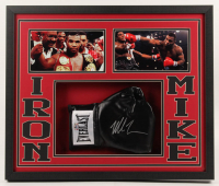 Mike Tyson Signed 22x26x2 Custom Framed Boxing Glove Shadowbox Display (Fiterman Sports Hologram) at PristineAuction.com