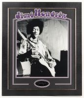 Jimi Hendrix 23.5x27.5 Custom Framed Photo Display at PristineAuction.com