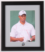 Tiger Woods 13x15 Custom Framed Photo Display with 2007 PGA Championship Ball Marker at PristineAuction.com