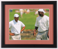 Tiger Woods & Michael Jordan 16x19 Custom Framed Photo Display at PristineAuction.com