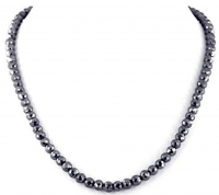 147.50ct Black Diamond Faceted Bead Necklace (UGL Appraisal) at PristineAuction.com