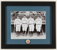 """1940's Yankees """"Murderer's Row"""" 13x15 Custom Framed Photo Display with 1940's Yankees Pin at PristineAuction.com"""