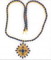 29.25ct Blue Sapphire & Diamond Necklace (UGL Appraisal) at PristineAuction.com