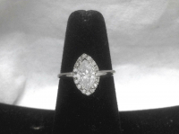1.27ct Diamond Engagement Ring 14kt White Gold (UGL Appraisal) at PristineAuction.com