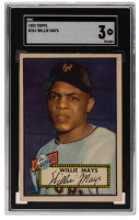 Willie Mays 1952 Topps #261 (SGC 3) at PristineAuction.com