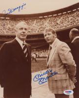 Joe DiMaggio & Mickey Mantle Signed Yankees 8x10 Photo (PSA LOA) at PristineAuction.com