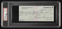 "Ted ""Theodore"" Williams Full Name Signed 1981 Personal Bank Check (PSA Encapsulated) at PristineAuction.com"