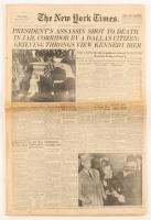 """Lee Harvey Oswald Shot"" Original November 25, 1963 Full New York Times Newspaper at PristineAuction.com"