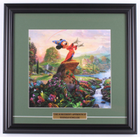 "Thomas Kinkade Walt Disney's ""The Sorcerer's Apprentice"" 18x18.5 Custom Framed Print at PristineAuction.com"