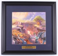 "Thomas Kinkade Walt Disney's ""The Lion King"" 18x18.5 Custom Framed Print Display at PristineAuction.com"
