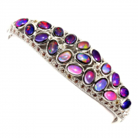10.00ct Black Opal Cuff Bracelet (UGL Appraisal) at PristineAuction.com