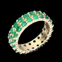 2.60ct Emerald Eternity Band (UGL Appraisal) at PristineAuction.com