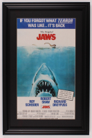 """Jaws"" 16x24.5 Custom Framed Movie Poster Display at PristineAuction.com"