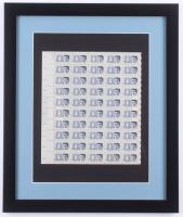 John F. Kennedy 16x19 Custom Framed 1963 Uncut Stamp Sheet Display at PristineAuction.com