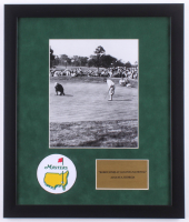 "Bobby Jones ""The Masters"" 16x19 Custom Framed Photo Display with Masters Patch at PristineAuction.com"