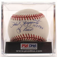 "Phil Rizzuto & Yogi Berra Signed OAL Baseball Inscribed ""HOF 94"" with Display Case (PSA COA) at PristineAuction.com"