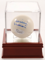 Willie Mosconi Signed Cue Pool Ball with Display Case (JSA COA) at PristineAuction.com