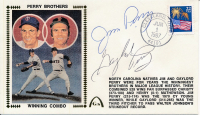 Gaylord Perry & Jim Perry Signed 1987 FDC Envelope (JSA COA) at PristineAuction.com