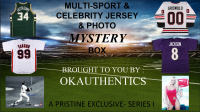 OKAuthentics Multisport & Celebrity Jersey & Photo Mystery Box - Series 1 (Limited to 100) at PristineAuction.com