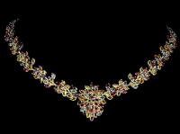 45.00ct Multi-Color Sapphire Necklace (UGL Appraisal) at PristineAuction.com