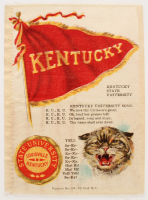 1910 Vintage Kentucky State University Tobacco Silk at PristineAuction.com