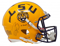 "Joe Burrow Signed LSU Tigers Full Size Authentic On Field Speed Helmet Inscribed ""19 Champs"" (Fanatics Hologram) at PristineAuction.com"