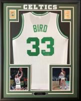 Larry Bird Signed 34.5x42.5 Custom Framed Jersey (Beckett COA) at PristineAuction.com