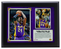 """Kobe Bryant Lakers """"3rd All-Time NBA Leading Scorer"""" 11x13 Plaque at PristineAuction.com"""
