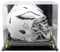 Zach Ertz Signed Eagles Full Size Authentic On Field Matte Speed Helmet with Display Case (Ertz Hologram & SI COA) at PristineAuction.com