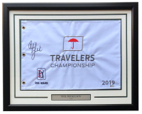 Phil Mickelson Signed 22x27 Custom Framed 2019 Travelers Championship Flag (Beckett COA) at PristineAuction.com
