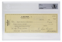 Ben Hogan Signed Personal Bank Check (BGS Encapsulated) at PristineAuction.com