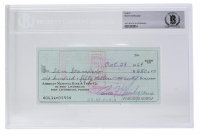 Rocky Marciano Signed Personal Bank Check (BGS Encapsualted) at PristineAuction.com