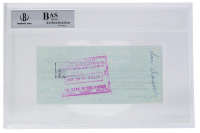 Rocky Marciano Signed Personal Bank Check (BAS Encapsualted) at PristineAuction.com