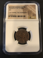 Valentinian II Roman Bronze Coin AD 375-392 (NGC Encapsulated) at PristineAuction.com