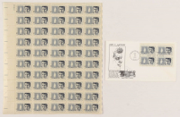 Sheet of (50) unused 1964 John F. Kennedy Stamps with First Day Issue Envelope at PristineAuction.com