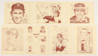 Bill Gallo Set of (7) LE MLB Series III 9x11.5 Lithographs With Yogie Berra, Frank Robinson at PristineAuction.com
