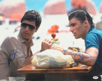 """Al Pacino & Steven Bauer Signed """"Scarface"""" 16x20 Photo (PSA Hologram) at PristineAuction.com"""