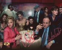 "Vincent Pastore & Aida Turturro Signed ""The Sopranos"" 8x10 Photo (MAB Hologram) at PristineAuction.com"