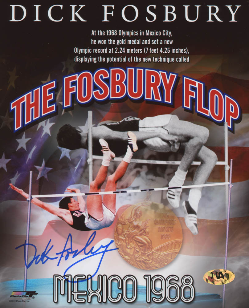Dick Fosbury Signed Team USA 8x10 Photo (MAB Hologram) at PristineAuction.com