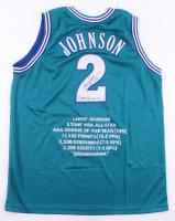 "Larry Johnson Signed Career Highlight Stat Jersey Inscribed ""Grandmama"" (JSA COA) at PristineAuction.com"