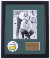 """Arnold Palmer & Jack Nicklaus """"The Masters"""" 16x19 Custom Framed Photo Display with Masters Patch at PristineAuction.com"""